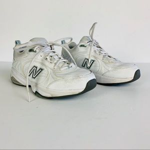 New Balance 623 Cross Training Shoe 8 White Gray